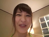 Amateur Japanese babe getting toyed with picture 11