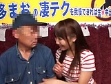 Horny stud gets a warm erotic blowjob from Mao Kurata picture 11