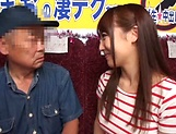 Horny stud gets a warm erotic blowjob from Mao Kurata picture 12