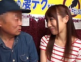 Horny stud gets a warm erotic blowjob from Mao Kurata picture 13