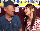 Horny stud gets a warm erotic blowjob from Mao Kurata picture 14