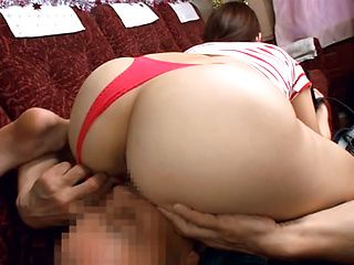 Horny stud gets a warm erotic blowjob from Mao Kurata