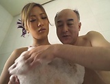 Adorable Aika Soggy licks erotically in a bathtub picture 11