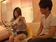 Naughty Asian milf enjoys sex toys and creampie