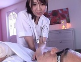 Horny nurse in white pantyhose Yui Tatsumi gives a wild riding picture 2