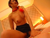 Sexy Asian babe gives her man great time