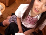Horny teen girl Usami Nana plays with cock and takes it in mouth picture 11