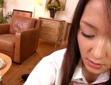 Horny teen girl Usami Nana plays with cock and takes it in mouth picture 12