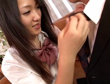 Horny teen girl Usami Nana plays with cock and takes it in mouth