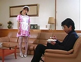 Naughty Asian maid, Hikaru Hozuki gives amazing blowjob