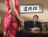 Adorable Asian darling is a great dick sucker picture 14