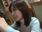 Savory Asian housewife Saki Mizumi engulfs and swallows