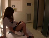 Horny Asian MILF, Haruka Sanada gets banged in the bathroom picture 13