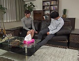 Harsh fuck on the couch with young Asian, Hitomi Inoue picture 15