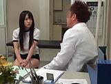 Sensual Asian cutie Hibiki Aimi nasty sucking dick picture 13