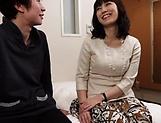 Amateur mature Asian blows hard before a good fuck
