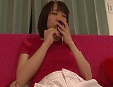 Busty Harura Mori gets her cunt stretched