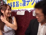 Sexy babe Mao kurata gives a steamy blowjob picture 13