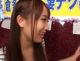 Sexy babe Mao kurata gives a steamy blowjob picture 14