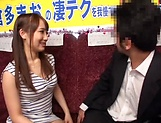 Sexy babe Mao kurata gives a steamy blowjob picture 15