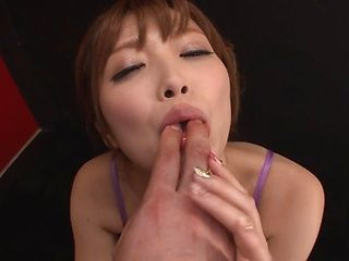 Hot Asian milf, Rina Kato gets pov cum in her mouth