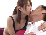 Hot Asian bombshell with round ass Seira Matsuoka rides cock on camera