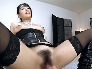 Mao Hamasaki enjoys a throbbing dick riding.