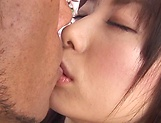 Hina Hanami gets a big dick to ravish all her tight Asian holes picture 1
