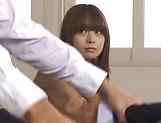 Hot Asian schoolgirl Hirono Imai takes it hard in the dressing room