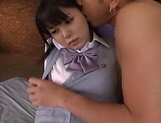 Tsukasa Aoi erotically teased indoors picture 11