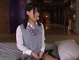 Tsukasa Aoi erotically teased indoors picture 1