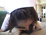 Sexy nurse Hagiwara Mai loves getting fucked picture 14