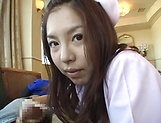 Sexy nurse Hagiwara Mai loves getting fucked