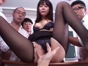Lustful Asian honey gangbanged in a hardcore session