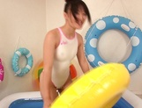 Sultry Nana Usami in swimsuit pussy delighted