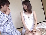 Cute Rina Yoshiguchi loves sucking wood