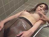 Izumi Tachibana gets naughty in the shower.