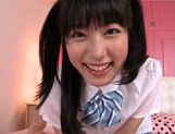 Horny Asian teen Kana Yume makes adorable licking on POV picture 12