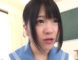 Kinky Asian schoolgirl Erika Kitagawa, is fond of cock teasing action picture 3