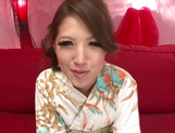 Erika Masujaku gets pumped and creamed on face picture 2