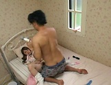 Teen babe Ren Ootsuka gets fucked hard on her bed