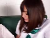 Schoolgirl Mei Yukimoto sucks cock of a mature guy