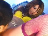Risa Tuskino Hot Asian doll shows off her firm ass picture 11