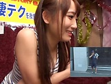 Mao Kurata is a hot Asian enjoying hand work and blowjob picture 4