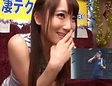 Mao Kurata is a hot Asian enjoying hand work and blowjob picture 7