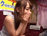 Mao Kurata is a hot Asian enjoying hand work and blowjob picture 9