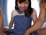 Chihiro Nishikawa takes on two lads in a spicy threesome