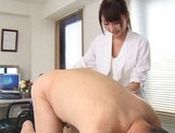 Hot nurse Shunka Ayami plays with cock in sleazy manners