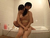 Body licking for Asian teen Yuri Satou in shower picture 3