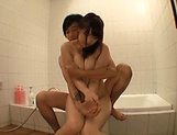 Body licking for Asian teen Yuri Satou in shower picture 9
